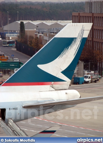 B-HKE, Boeing 747-400, Cathay Pacific
