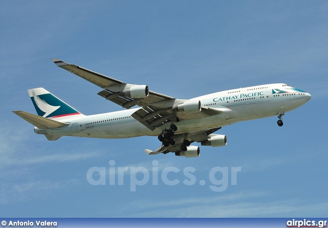 B-HKU, Boeing 747-400, Cathay Pacific