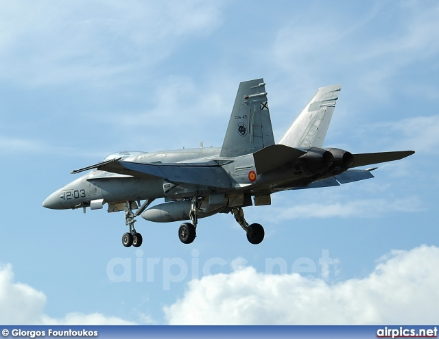 C.15-45, Boeing (McDonnell Douglas) EF-18A+ Hornet, Spanish Air Force