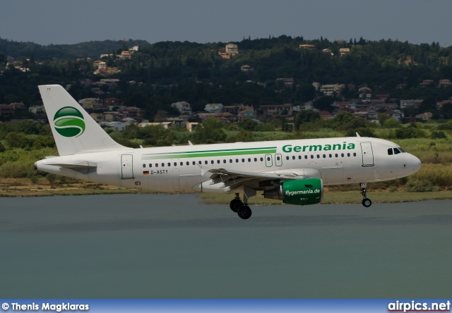 D-ASTY, Airbus A319-100, Germania
