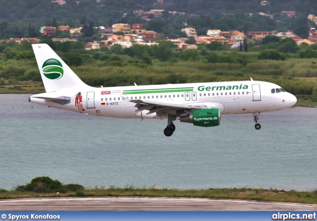 D-ASTZ, Airbus A319-100, Germania