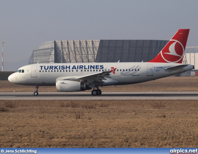 D-AVWM, Airbus A319-100, Turkish Airlines