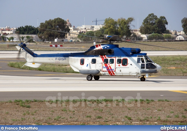 F-GYSH, Aerospatiale (Eurocopter) AS 332-L1 Super Puma, Heli Union