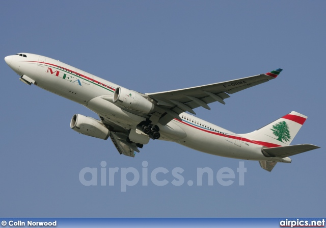 F-ORMA, Airbus A330-200, Middle East Airlines (MEA)