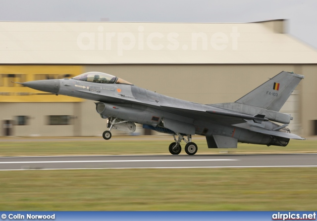 FA103, Lockheed F-16AM Fighting Falcon, Belgian Air Force