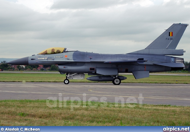 FA116, Lockheed (Fokker) F-16AM Fighting Falcon, Belgian Air Force