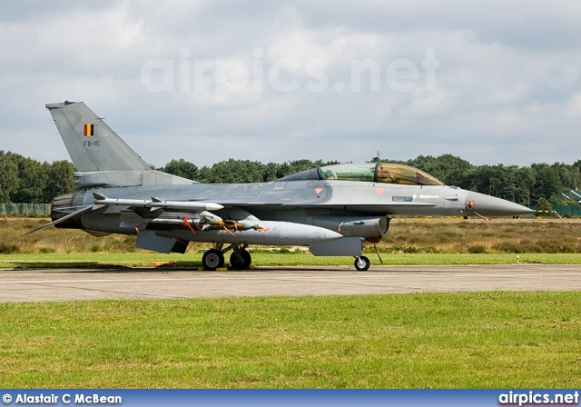 FB15, Lockheed F-16BM Fighting Falcon, Belgian Air Force