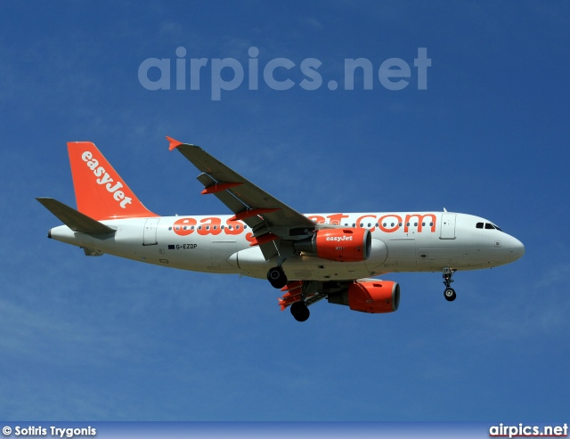 G-EZDP, Airbus A319-100, easyJet