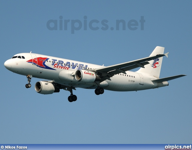G-STRP, Airbus A320-200, Travel Service (Czech Republic)