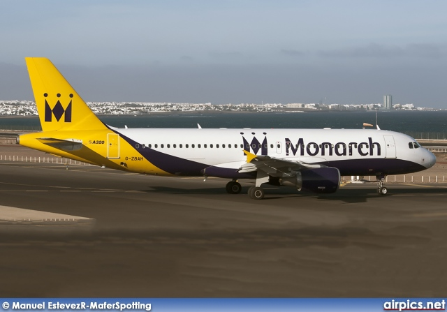G-ZBAH, Airbus A320-200, Monarch Airlines