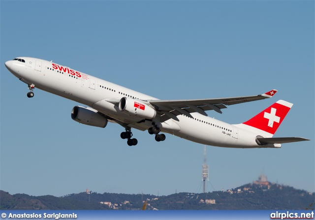 HB-JHC, Airbus A330-300, Swiss International Air Lines