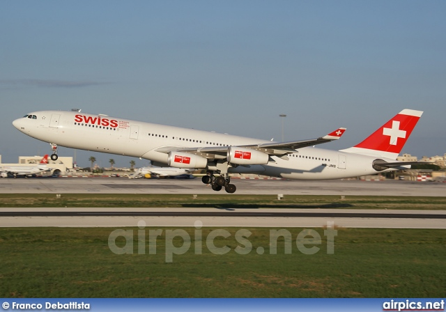 HB-JMB, Airbus A340-300, Swiss International Air Lines