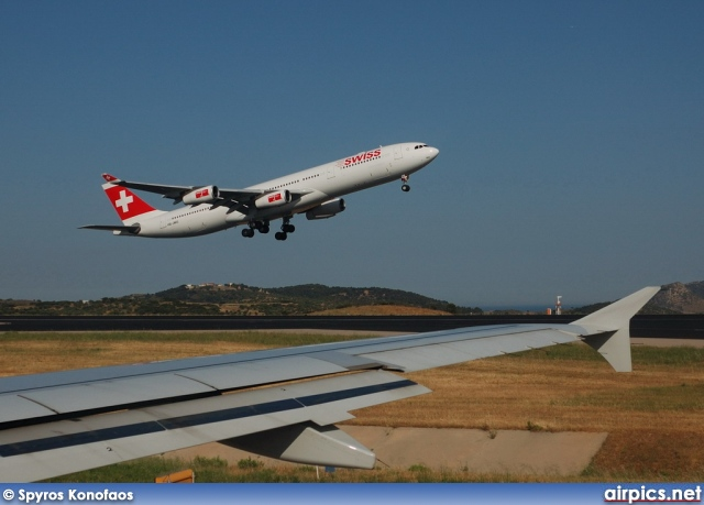 HB-JMO, Airbus A340-300, Swiss International Air Lines