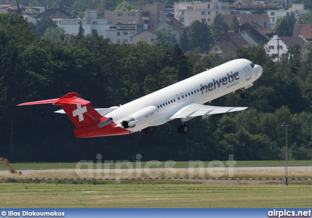 HB-JVH, Fokker F100, Helvetic Airways