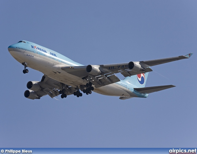 HL7490, Boeing 747-400, Korean Air