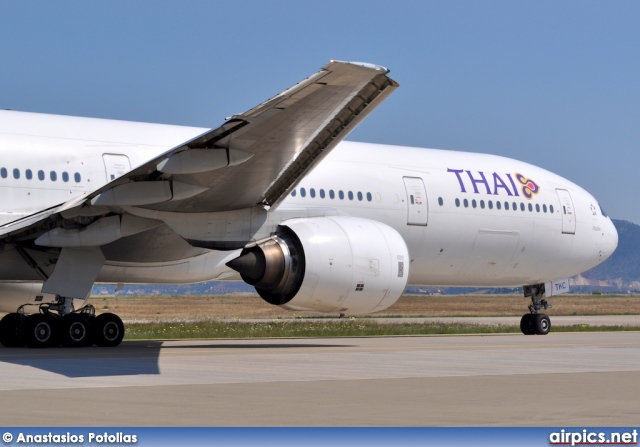 Thai Airways Boeing 777-300 Interior Hs-tkc Boeing 777-300 Thai