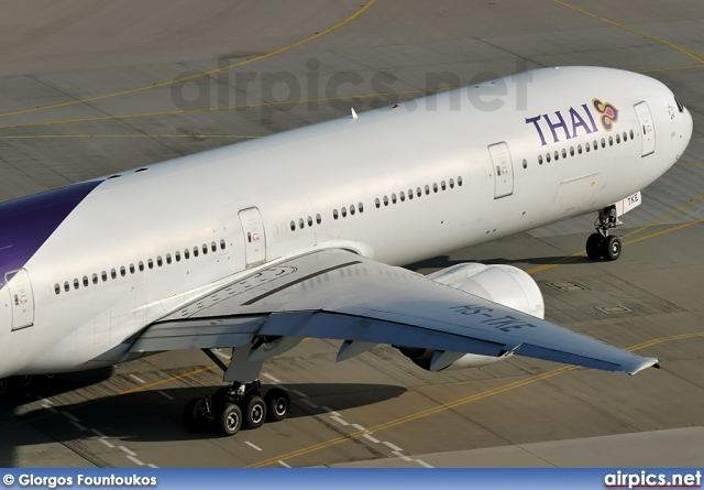 Thai Airways Boeing 777-300 Interior Hs-tke Boeing 777-300 Thai