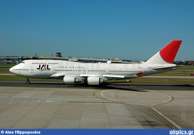 JA8912, Boeing 747-400, Japan Airlines