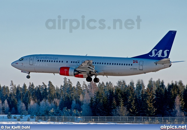LN-BRE, Boeing 737-400, Scandinavian Airlines System (SAS)