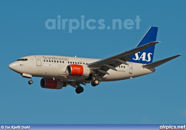 LN-RCW, Boeing 737-600, Scandinavian Airlines System (SAS)