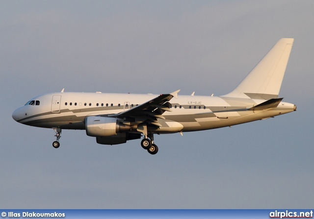 LX-GJC, Airbus A318-100CJ  Elite, Untitled