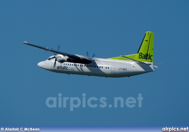LY-BAZ, Fokker 50, Air Baltic