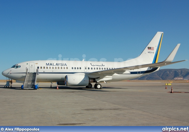 M53-01, Boeing 737-700/BBJ, Malaysian Government