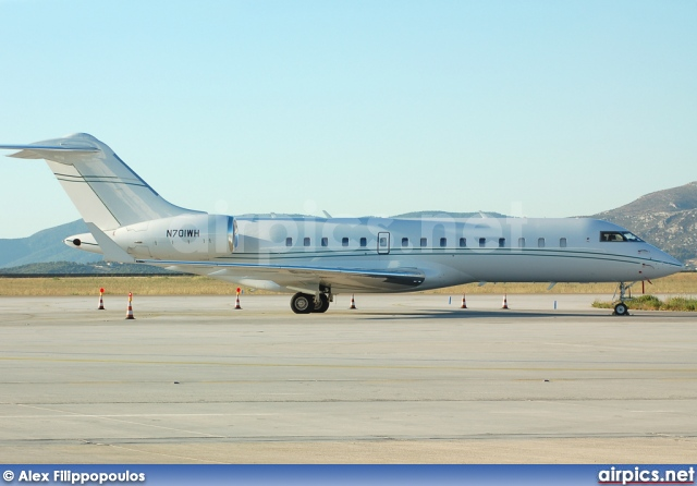 N701WH, Bombardier Global 5000, Private