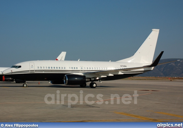 N721BA, Boeing 737-700/BBJ, Private
