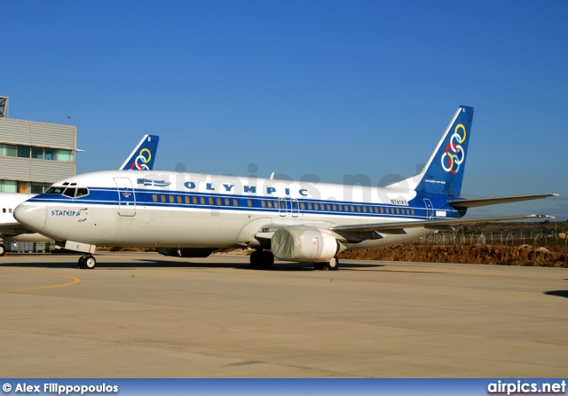 N741AS, Boeing 737-400, Olympic Airlines