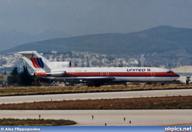 N7457U, Boeing 727-200Adv, United Airlines