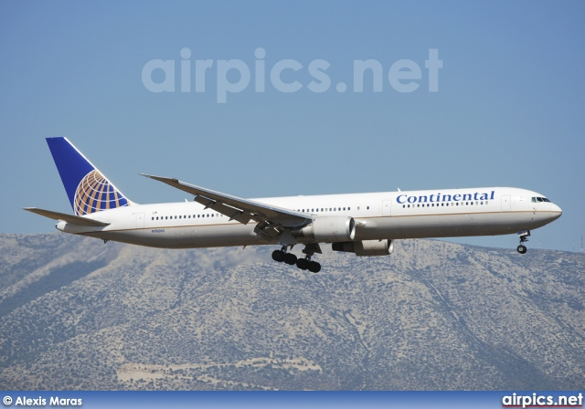 N76062, Boeing 767-400ER, Continental Airlines