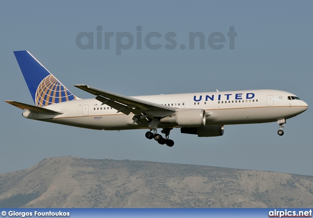 N76151, Boeing 767-200ER, United Airlines