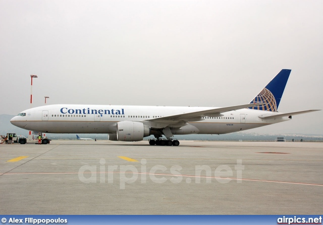 N78009, Boeing 777-200ER, Continental Airlines