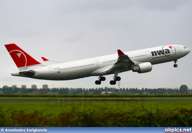 N802NW, Airbus A330-300, Northwest Airlines