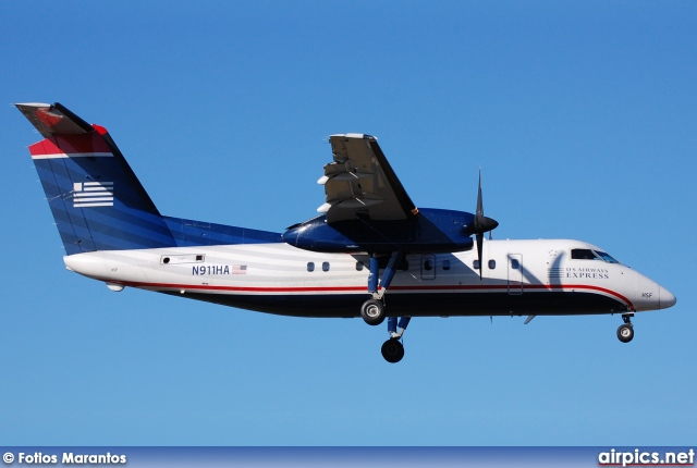 N911HA, De Havilland Canada DHC-8-100 Dash 8, US Airways Express