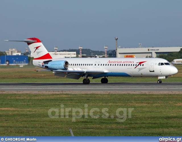 OE-LVI, Fokker F100, Austrian Arrows (Tyrolean Airways)