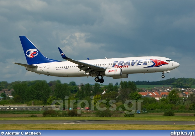 OK-TVF, Boeing 737-800, Travel Service (Czech Republic)