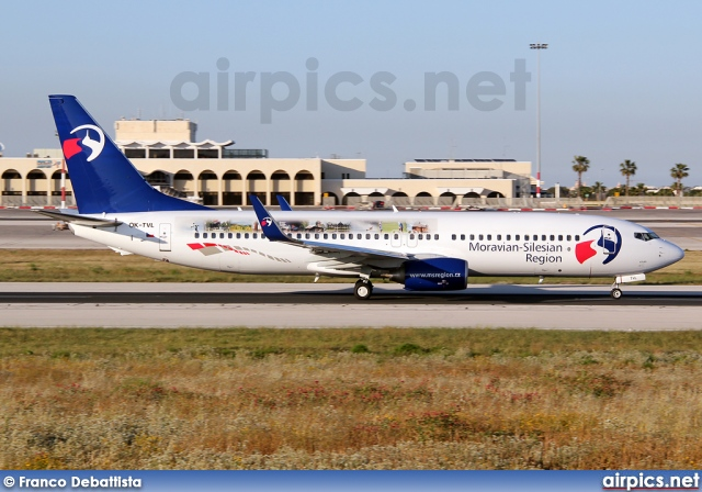 OK-TVL, Boeing 737-800, Travel Service (Czech Republic)