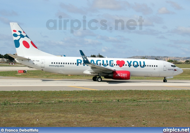 OK-TVX, Boeing 737-800, Travel Service (Czech Republic)