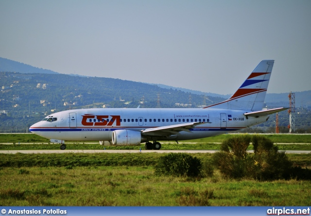OK-XGB, Boeing 737-500, CSA Czech Airlines