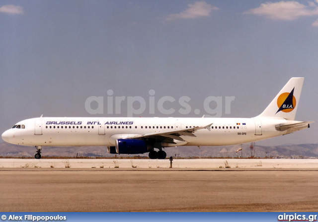 OO-CPS, Airbus A321-200, Brussels International Airlines