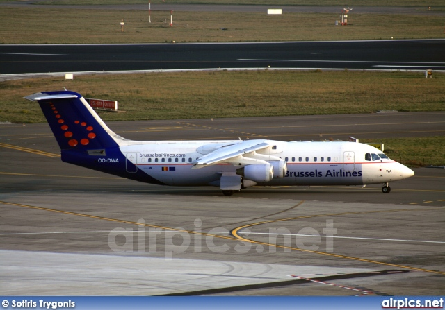 OO-DWA, British Aerospace Avro RJ100, SN Brussels Airline