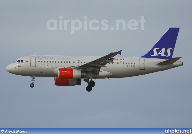OY-KBR, Airbus A319-100, Scandinavian Airlines System (SAS)