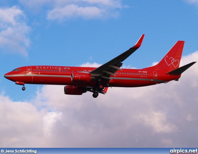 OY-SEM, Boeing 737-800, Sterling Airlines