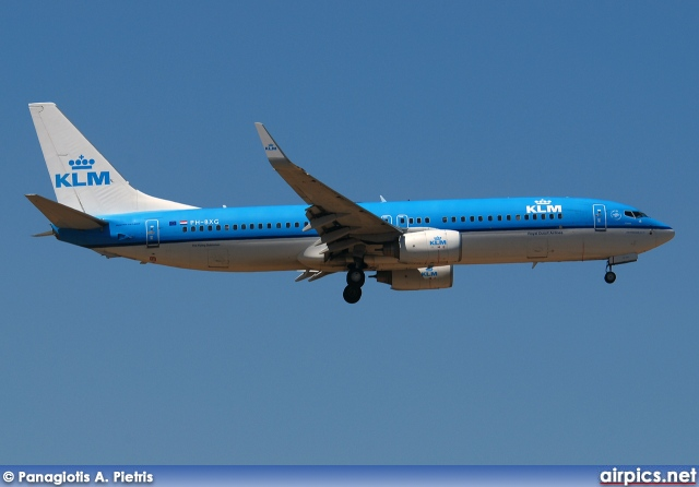 PH-BXG, Boeing 737-800, KLM Royal Dutch Airlines