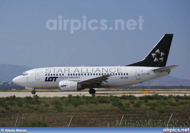 SP-LKE, Boeing 737-500, LOT Polish Airlines