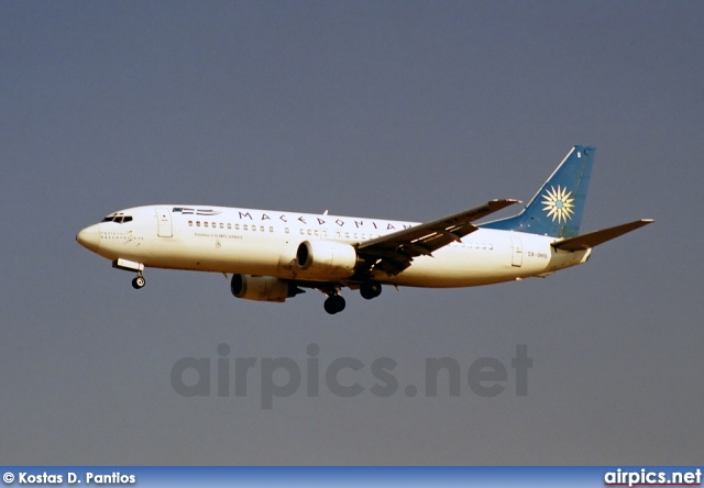 SX-BMB, Boeing 737-400, Macedonian Airlines