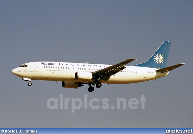 SX-BMC, Boeing 737-400, Macedonian Airlines