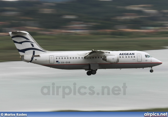 SX-DVB, British Aerospace Avro RJ100, Aegean Airlines